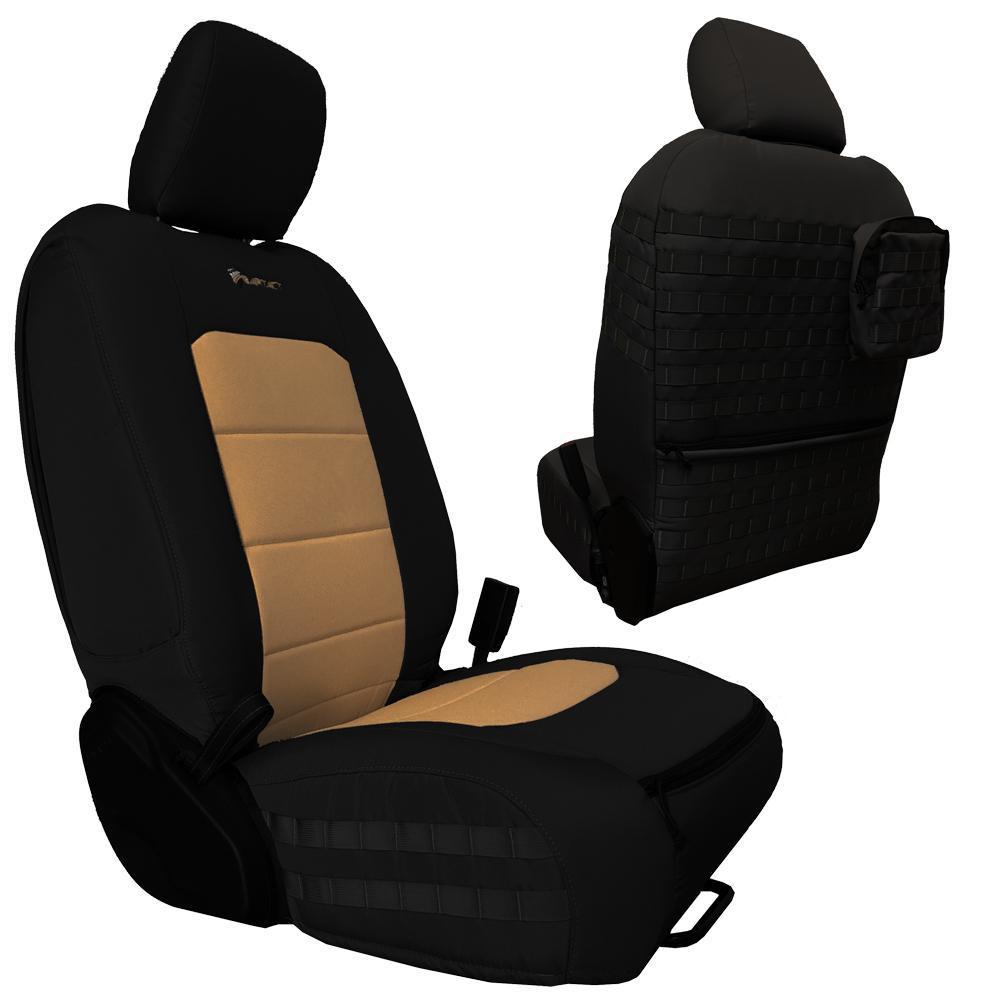 Bartact Tactical Front Seat Covers 18-Present  JL 4 Door Black/Khaki
