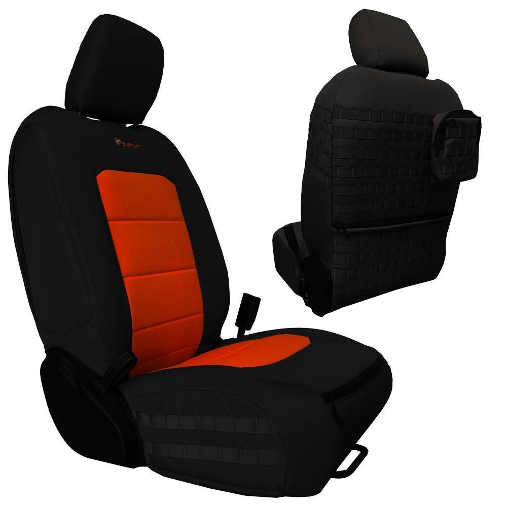 Bartact Tactical Front Seat Covers 18-Present  JL 4 Door Black/Orange