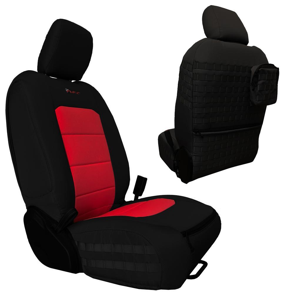Bartact Tactical Front Seat Covers 18-Present  JL 4 Door Black/Red