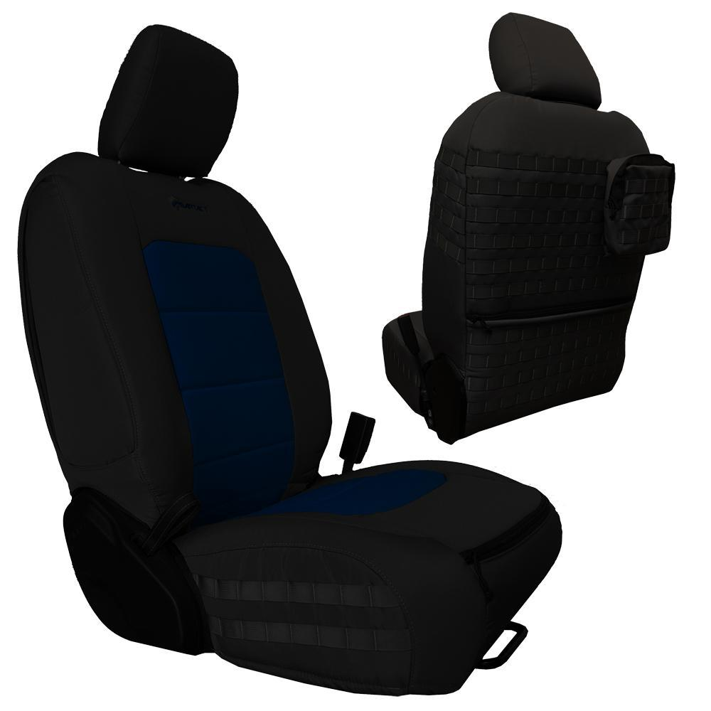 Bartact Tactical Front Seat Covers 18-Present  JL 4 Door Black/Navy