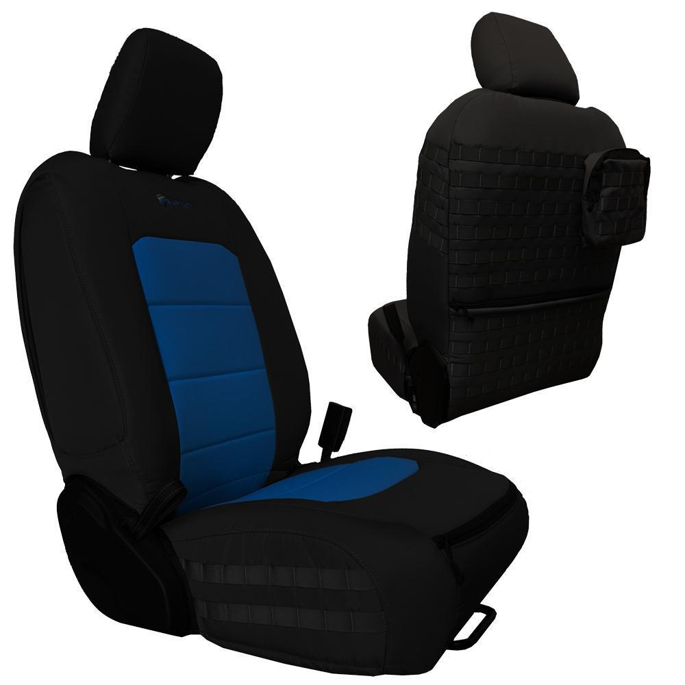 Bartact Tactical Front Seat Covers 18-Present  JL 4 Door Black/Blue