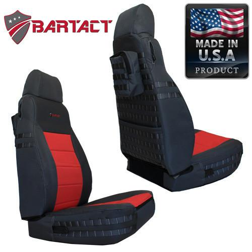 Bartact Seat Covers Front 03-06  TJ Tactical Series Black/Blue