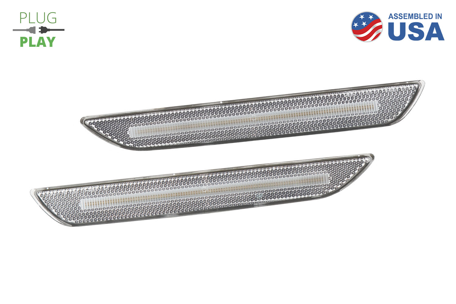 Mustang 2015 EU LED Sidemarkers Clear Set Diode Dynamics