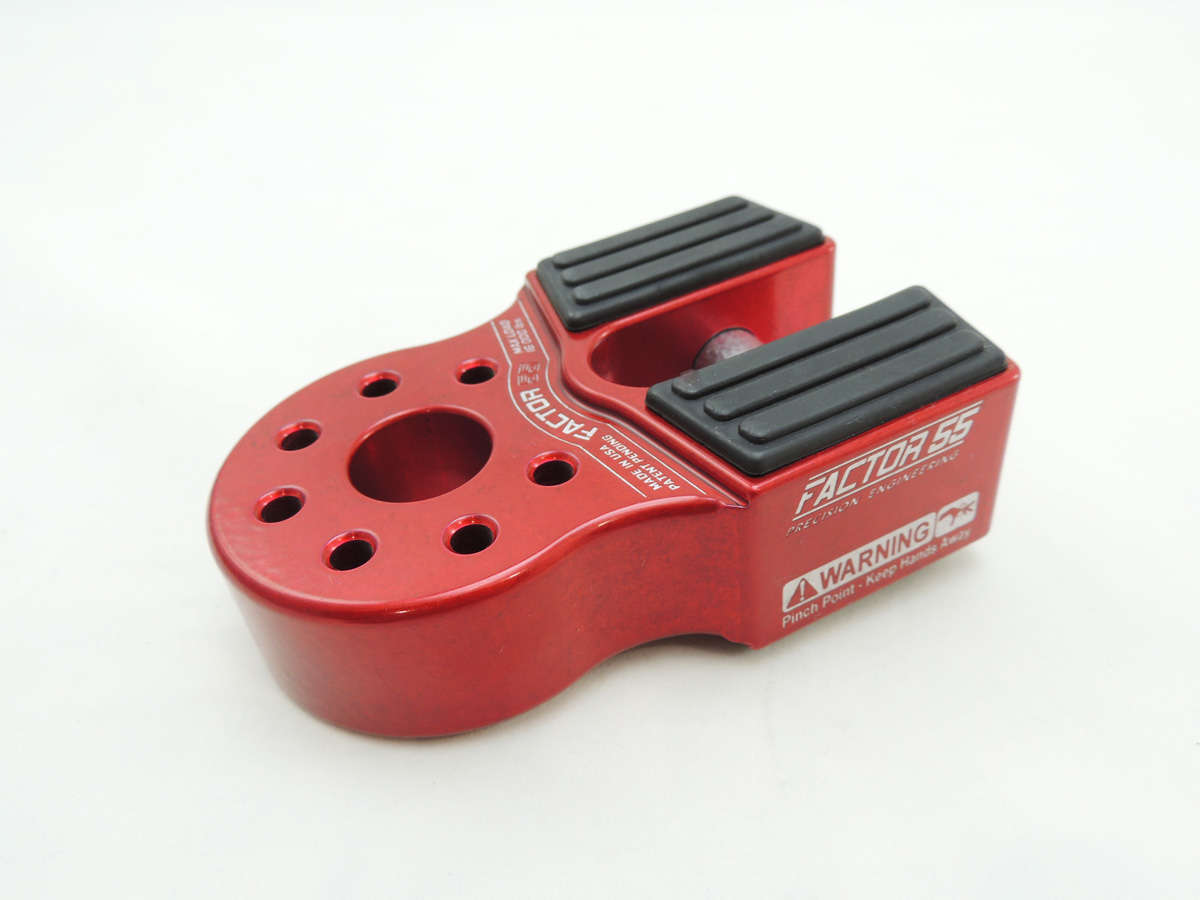 FlatLink Winch Shackle Mount Assembly Red Factor 55