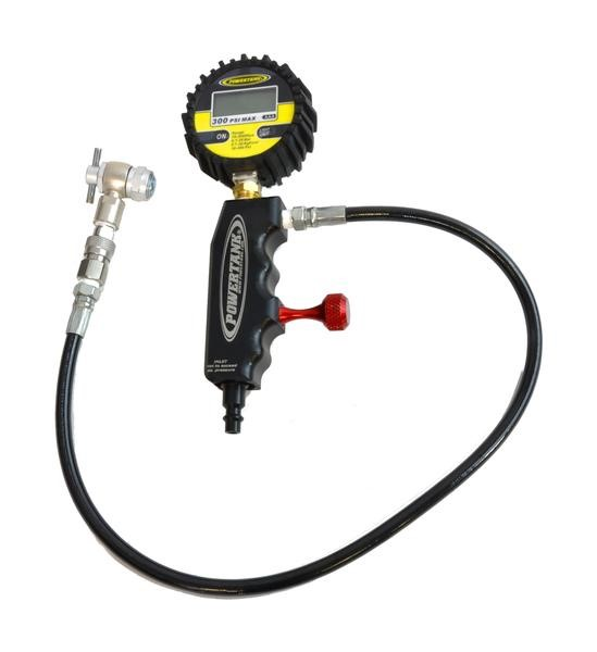 Powertank Deluxe Shock Inflator, 300 PSI Liquid Digital Gauge