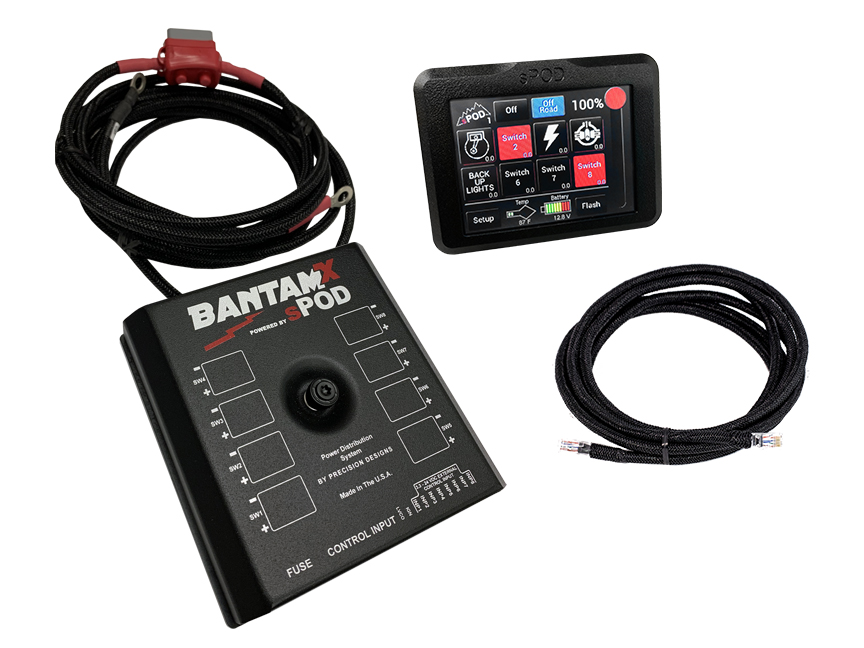 Spod BantamX w/Touchscreen, 84in Battery Cables