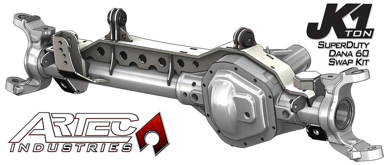 Artec Industries JK 1 TON - SUPERDUTY 99-04 Front Dana 60 Swap Kit - w/ Adjustable Truss Upper Link Mount - Single - JK