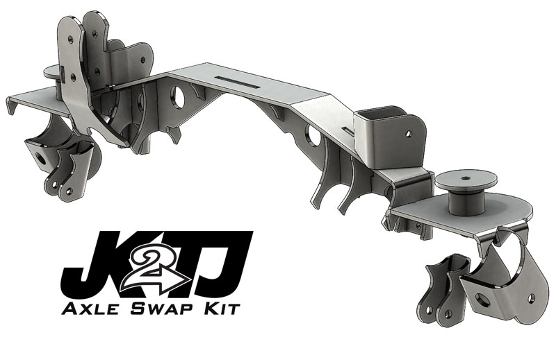 Artec Industries JK2TJ Rear Axle Swap Kit with Truss - TJ/LJ