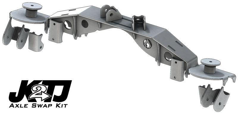 Artec Industries JK2TJ Triangulated Swap Kit w/Truss, 2.63in High Clearance - TJ