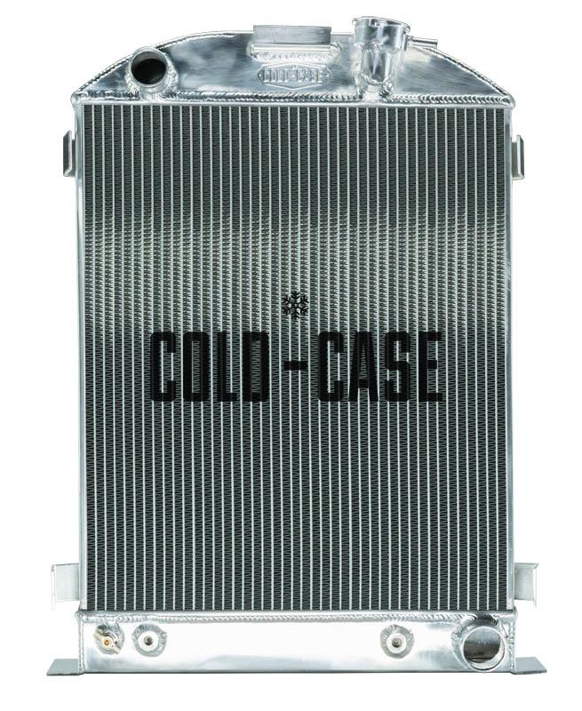 Cold Case 1932 Highboy Chevy Engine 27 Inch Aluminum Performance Radiator