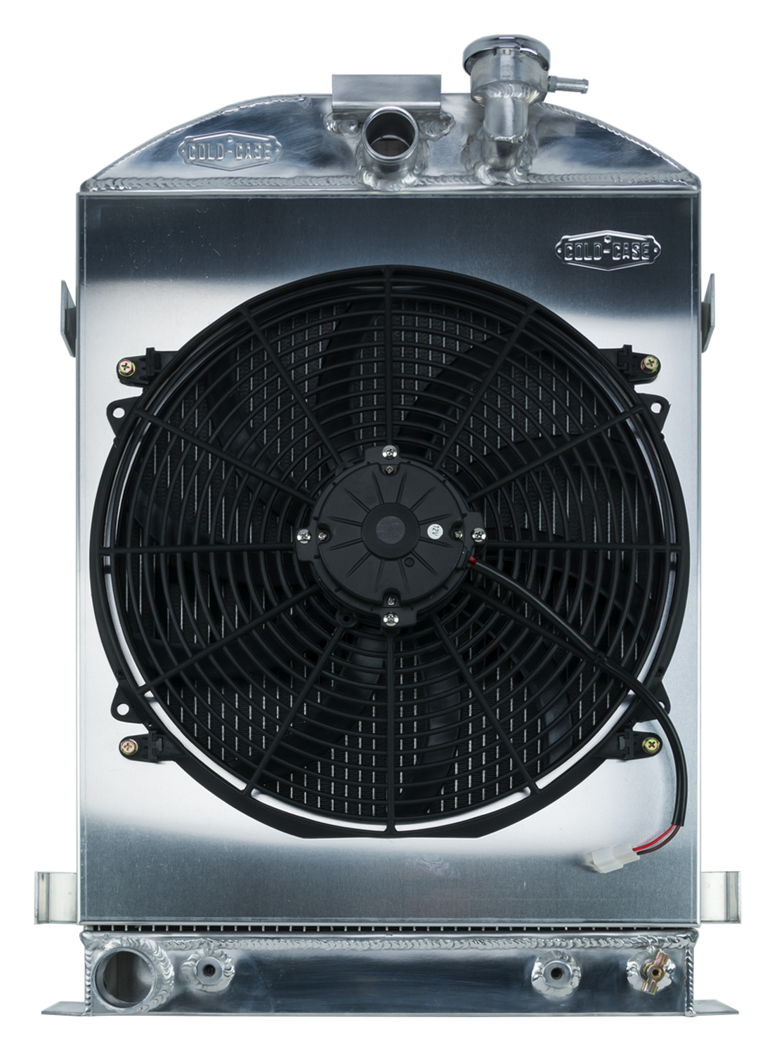 Cold Case 1932 Highboy Ford Engine 27 Inch Aluminum Performance Radiator And 16 Inch Fan Kit