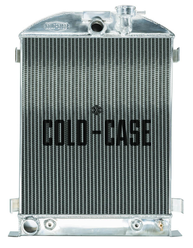 Cold Case 1932 Highboy Ford Engine 25.5 Inch Aluminum Performance Radiator