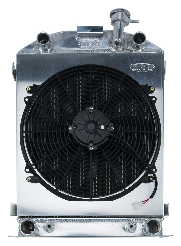 Cold Case 1932 Highboy Flathead Engine Aluminum Performance Radiator And 16 Inch Fan Kit