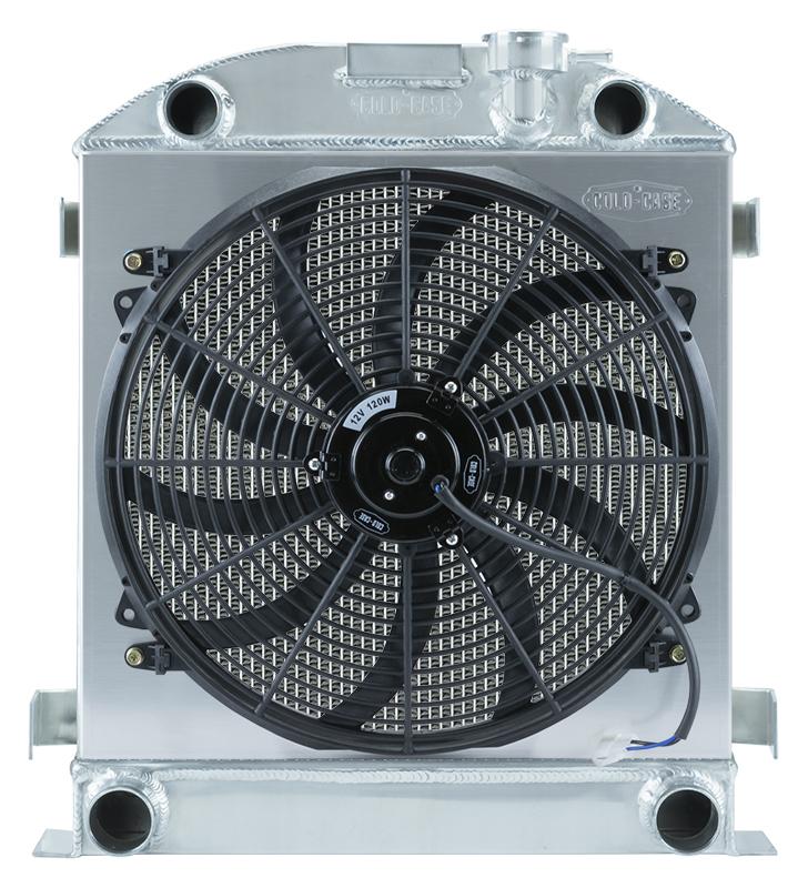 Cold Case 1932 Lowboy Flathead Engine Aluminum Performance Radiator & 16 Inch Fan Kit