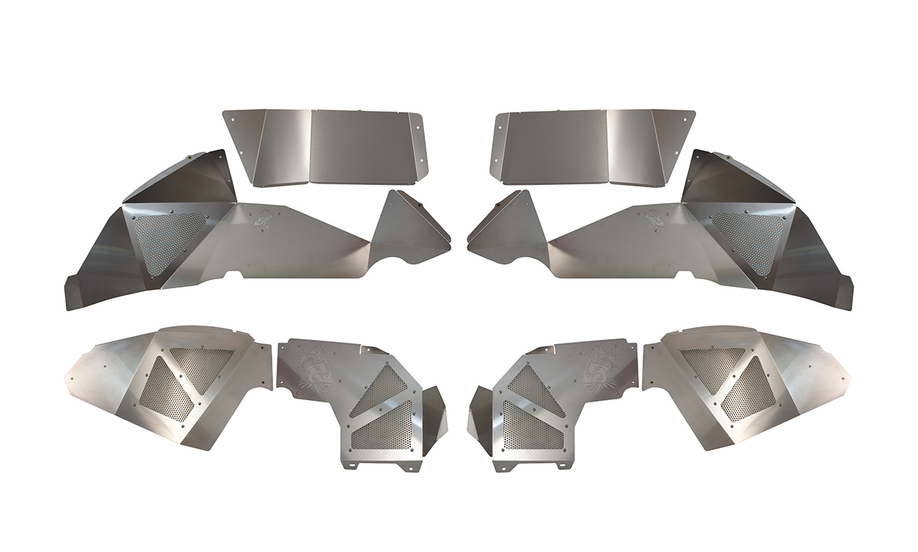 Fishbone Offroad Legacy Series Front and Rear Aluminum Inner Fenders - Raw - JL