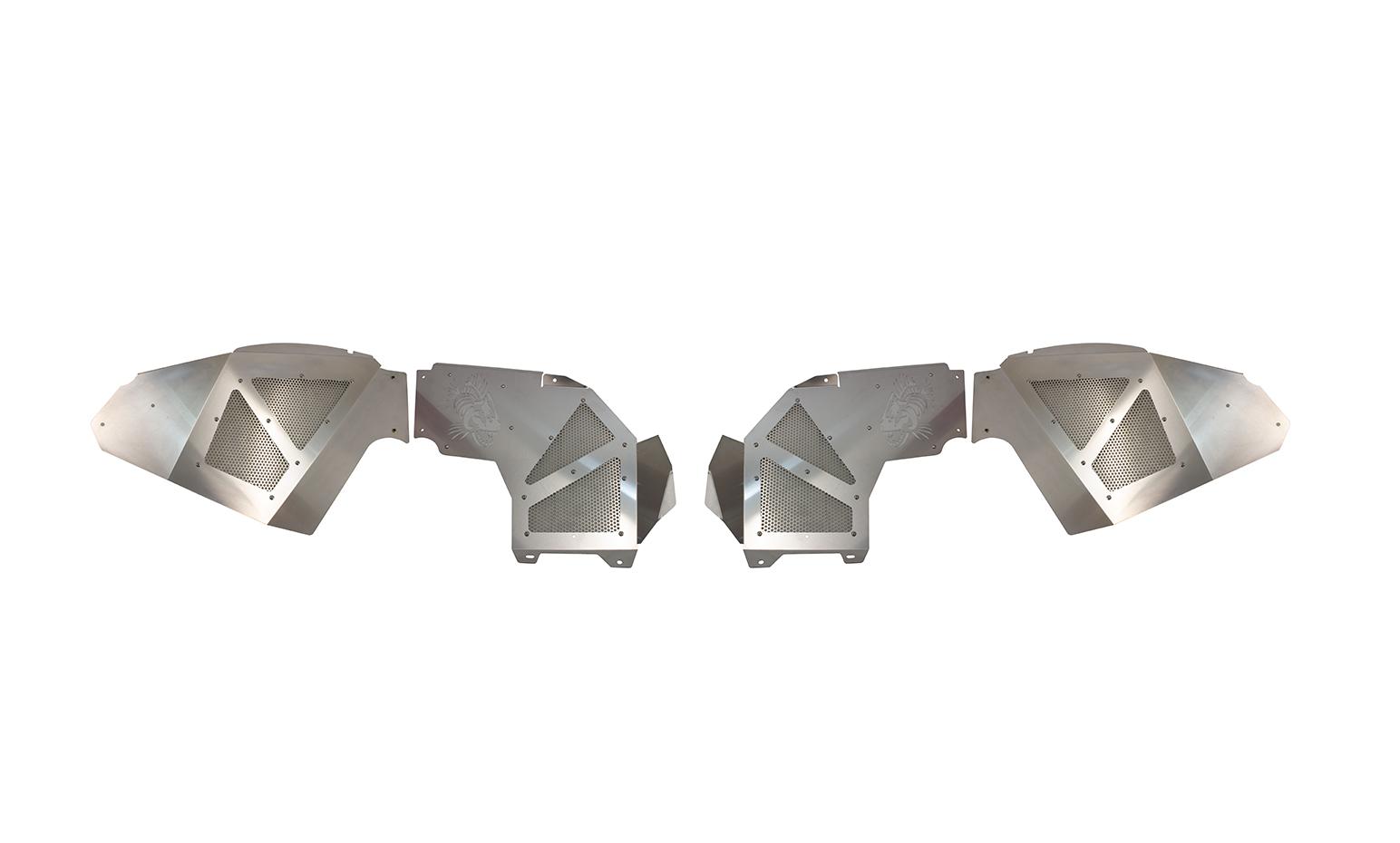 Fishbone Offroad Legacy Series Front Inner Fenders - Aluminum Raw  - JT/JL