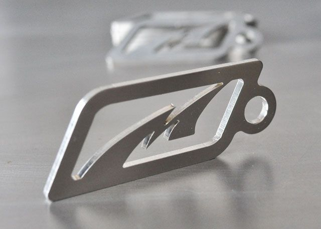 Key Chain 2-7/8x 1 inch Tall Brushed Finish Motobilt