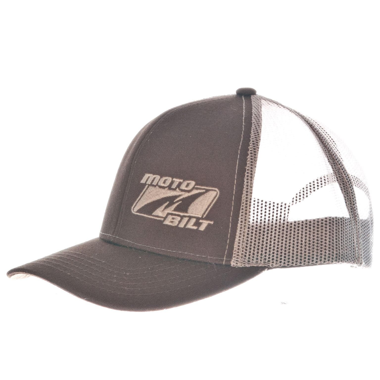 Motobilt Trucker Hat Brown & Beige