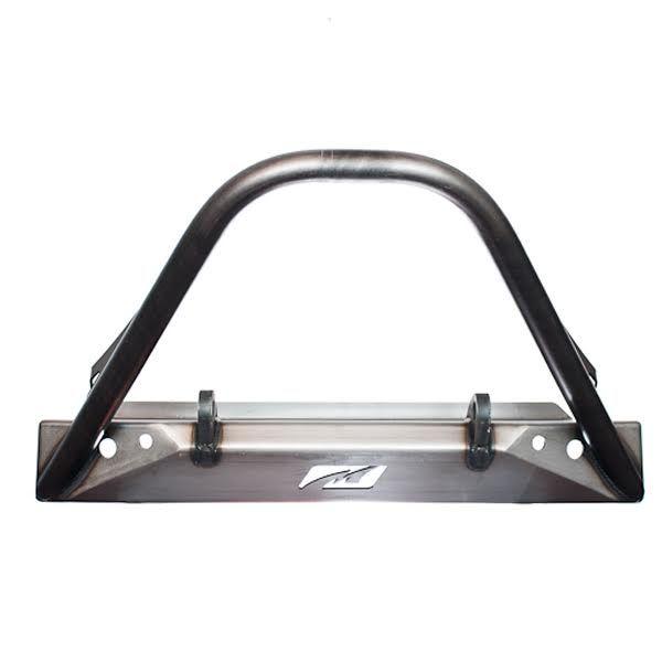 Motobilt Stubby Front Bumper w/ Stinger - Bare Steel  - TJ/YJ