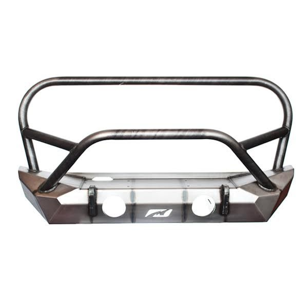 Jeep JK Front Bumper W/Stinger and Grill Hoop 07-18 Wrangler JK The Hammer Series Bare Steel Motobilt