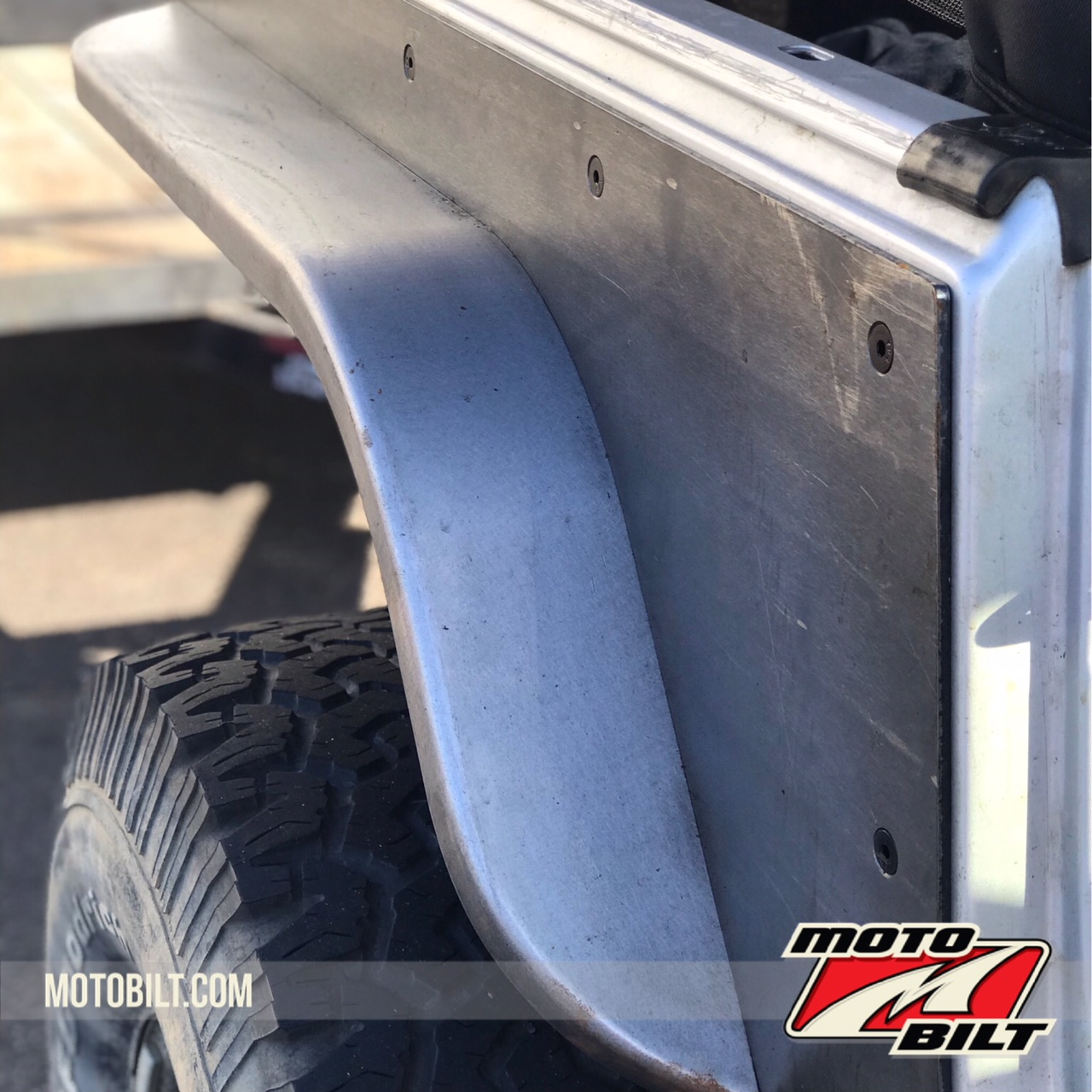Jeep Fender Flares for Rear Comp Cut 4 Inches Weld On Motobilt