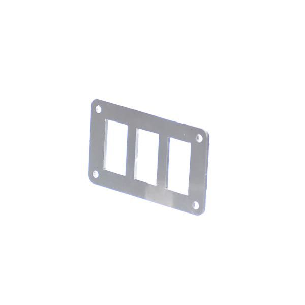 3 Hole Aluminum Switch Panel 4.5 x 2.5 Inch Motobilt