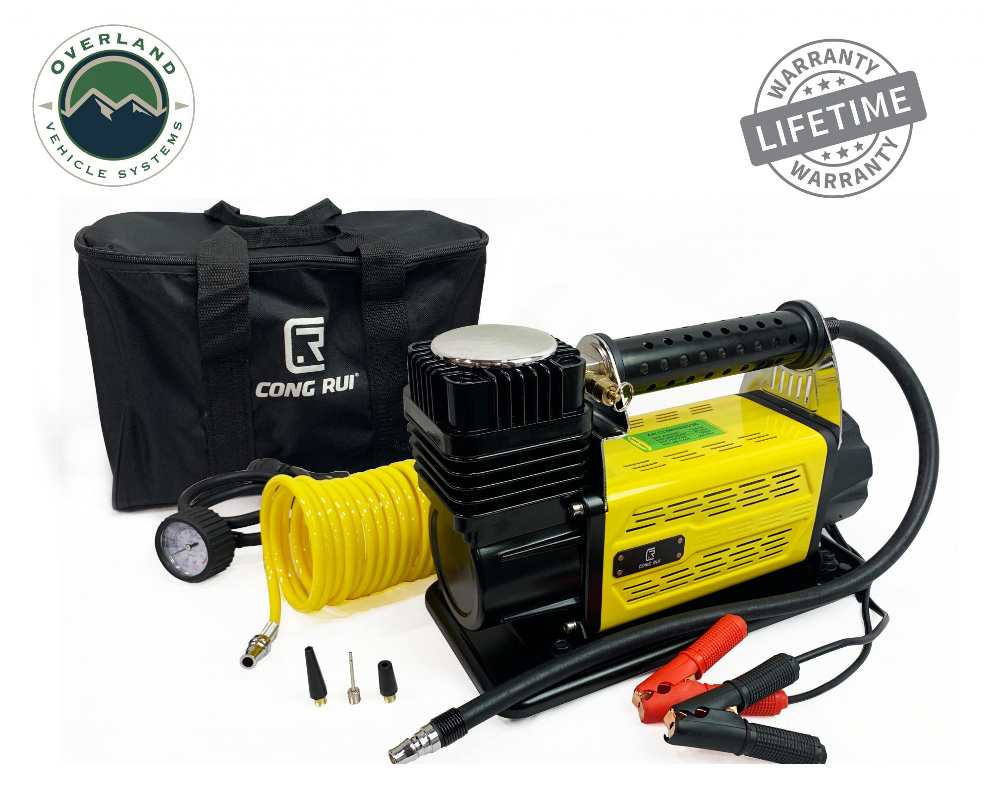 Up Down Air 5.6 CFM Air Compressor System w/ Storage Bag, Hose and Attachments - Single Motor