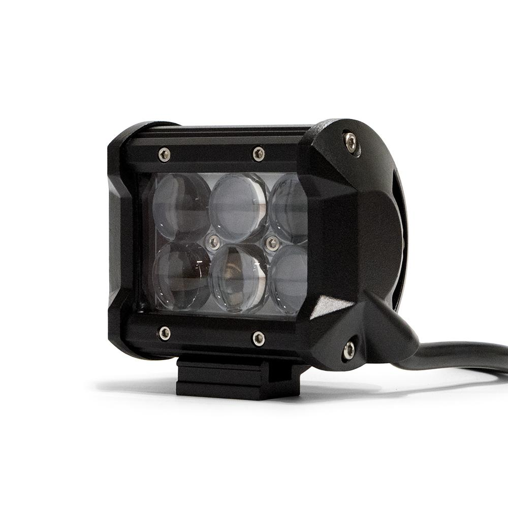 4 Inch Cube LED Light 18W Spot 3W LED Chrome DV8 Offroad
