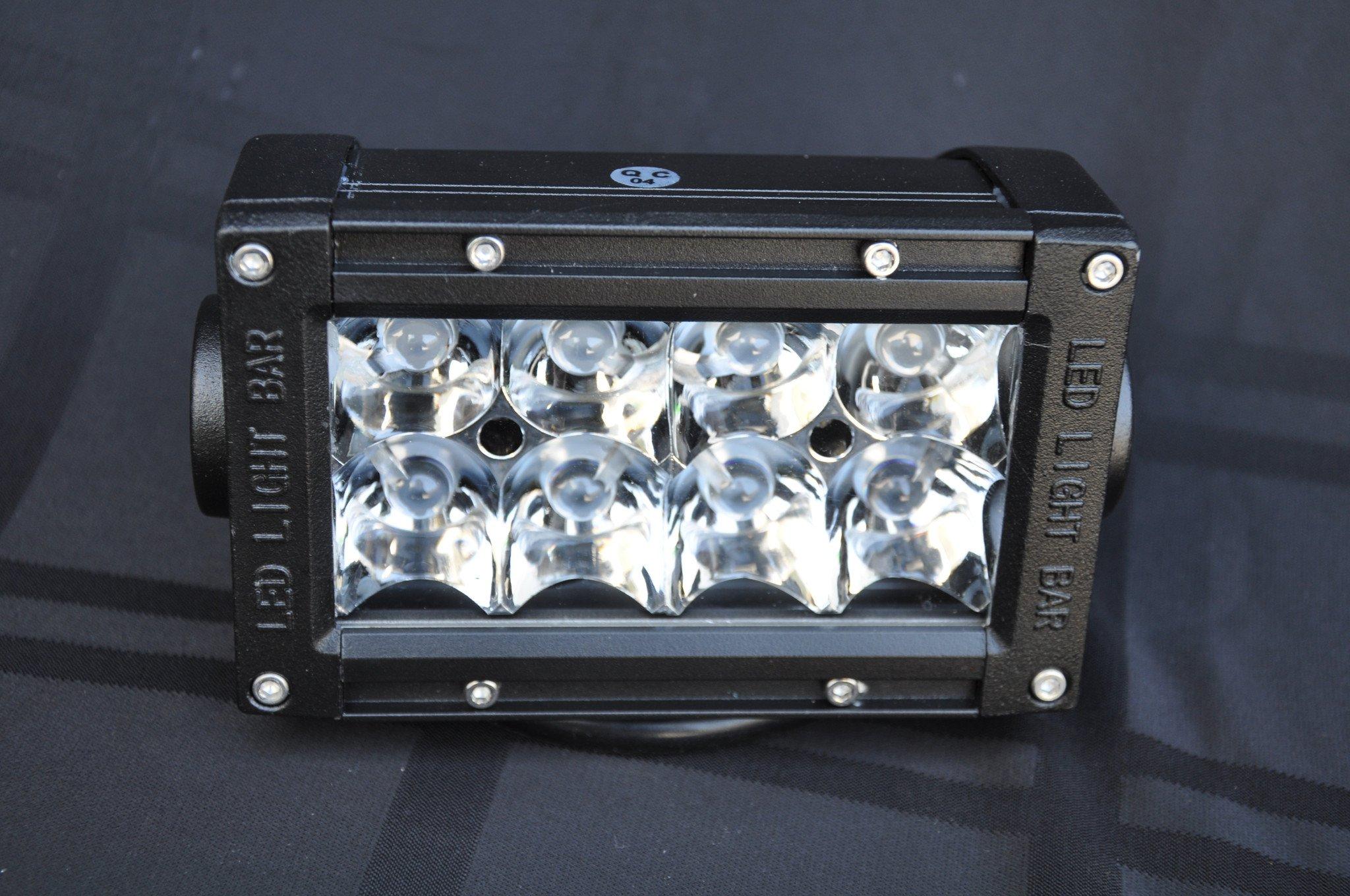 5 Inch Light Bar 24W Flood/Spot 3W LED Chrome DV8 Offroad