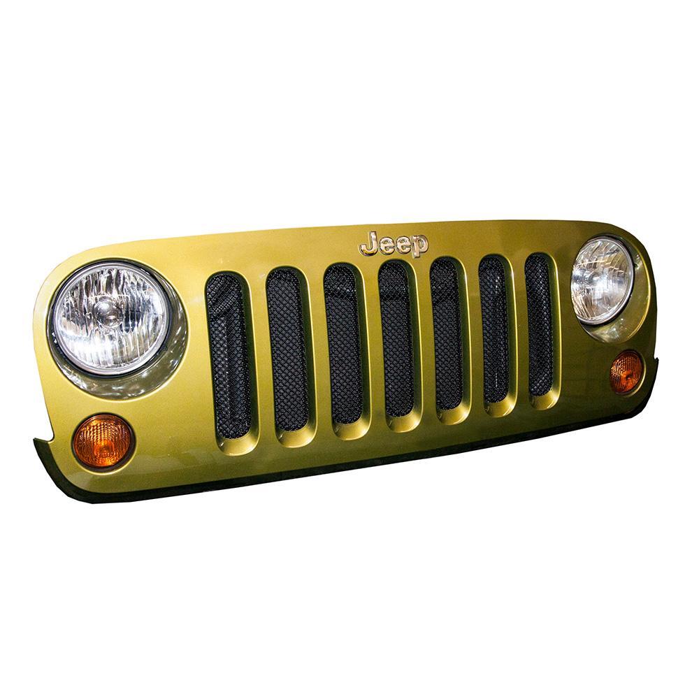 2007-18 Jeep JK Mesh Grille Black DV8 Offroad