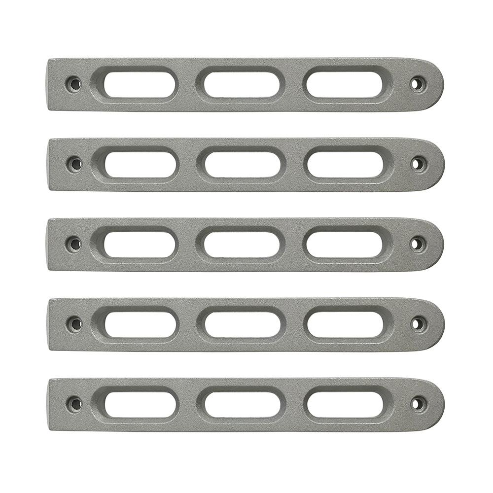2007-18 Jeep JK Silver Slot Style Door Handle Inserts set of 5 DV8 Offroad