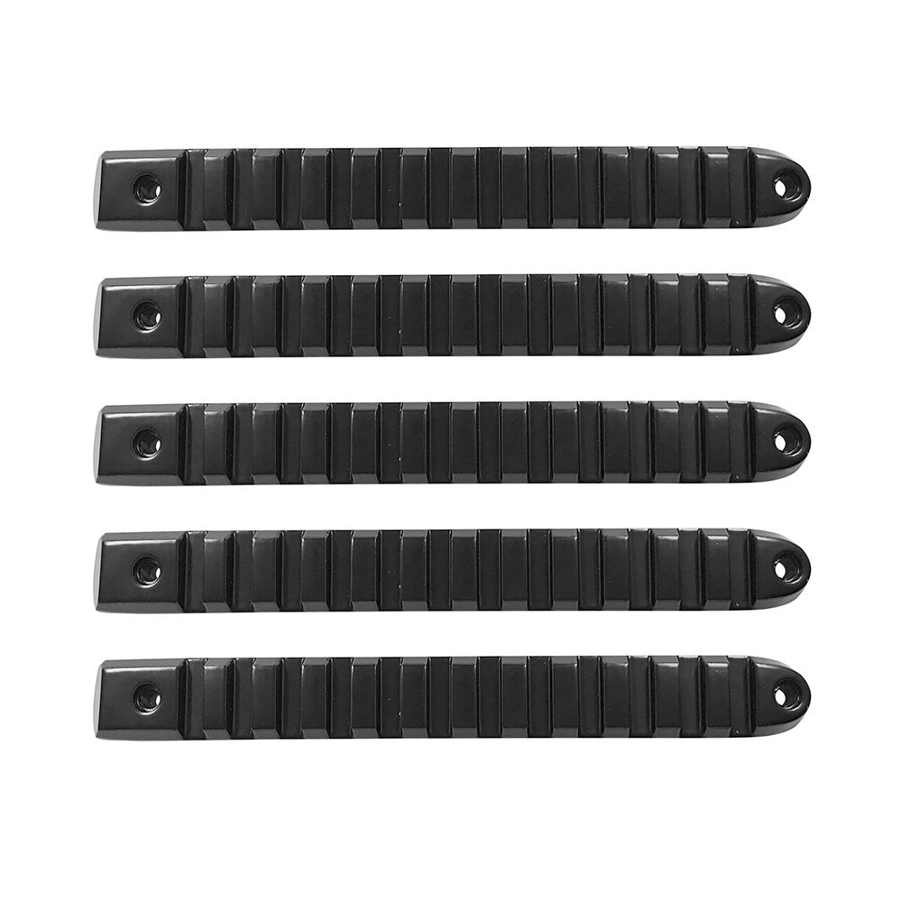 2007-18 Jeep JK Black Rail Style Door Handle Inserts set of 5 DV8 Offroad