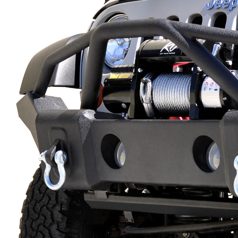 Jeep JK/JL Front Bumper 07-18 Wrangler JK/JL Steel Full Length DV8 Offroad