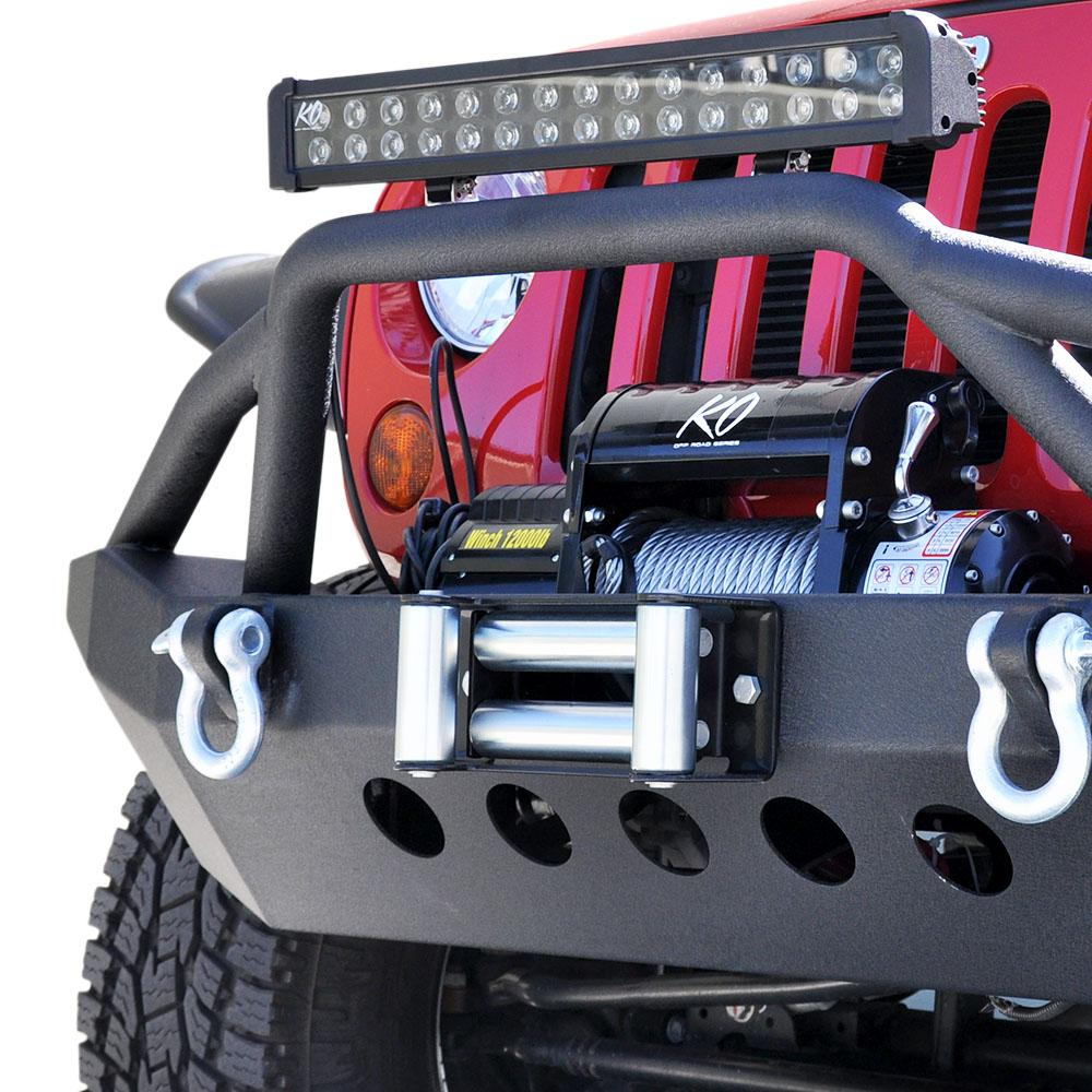 Jeep JK/JL Front Bumper 06 07-18 Wrangler JK/JL Steel Mid Length DV8 Offroad