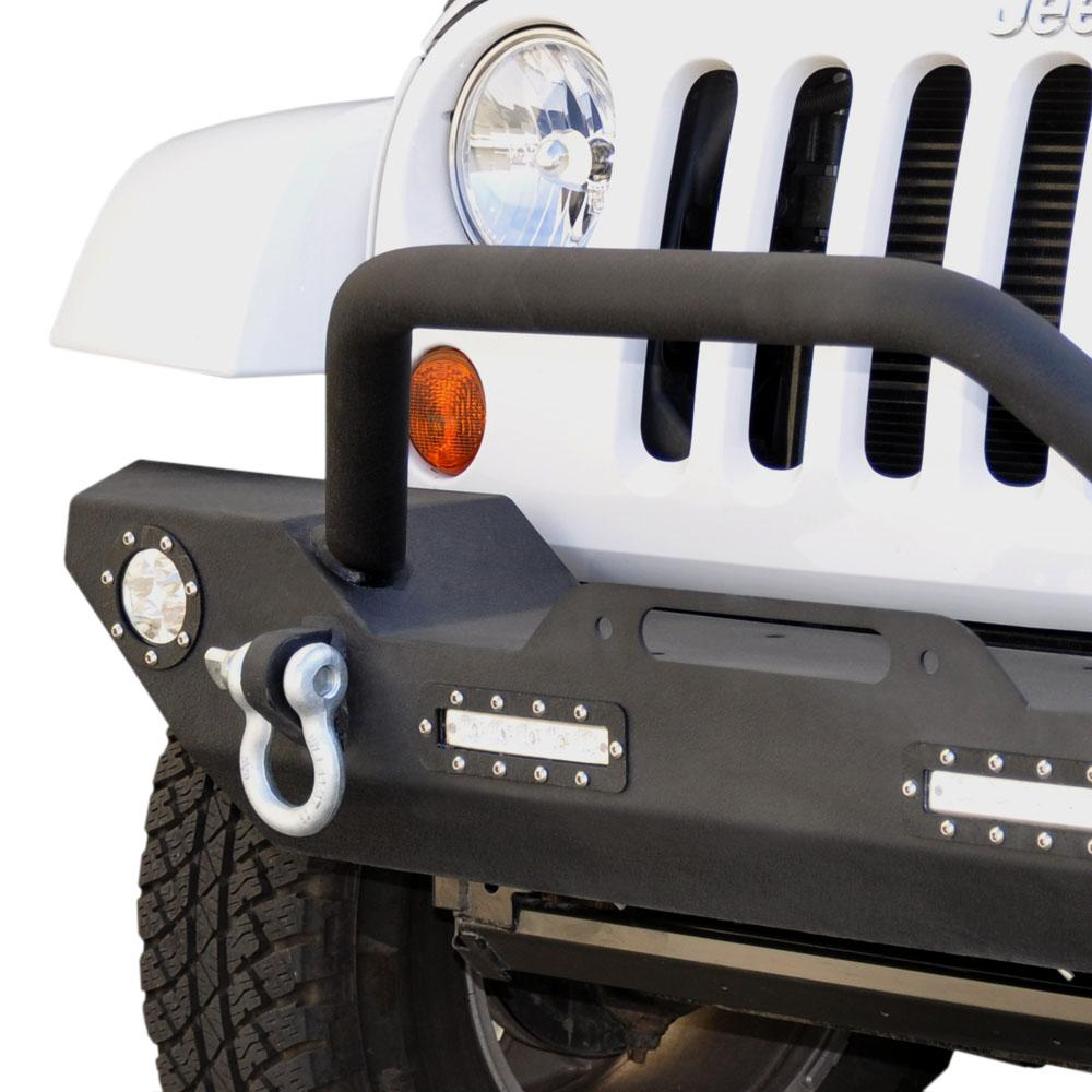 Jeep JK/JL Front Bumper 07 w/LED Lights 07-18 Wrangler JK/JL Steel Mid Length DV8 Offroad