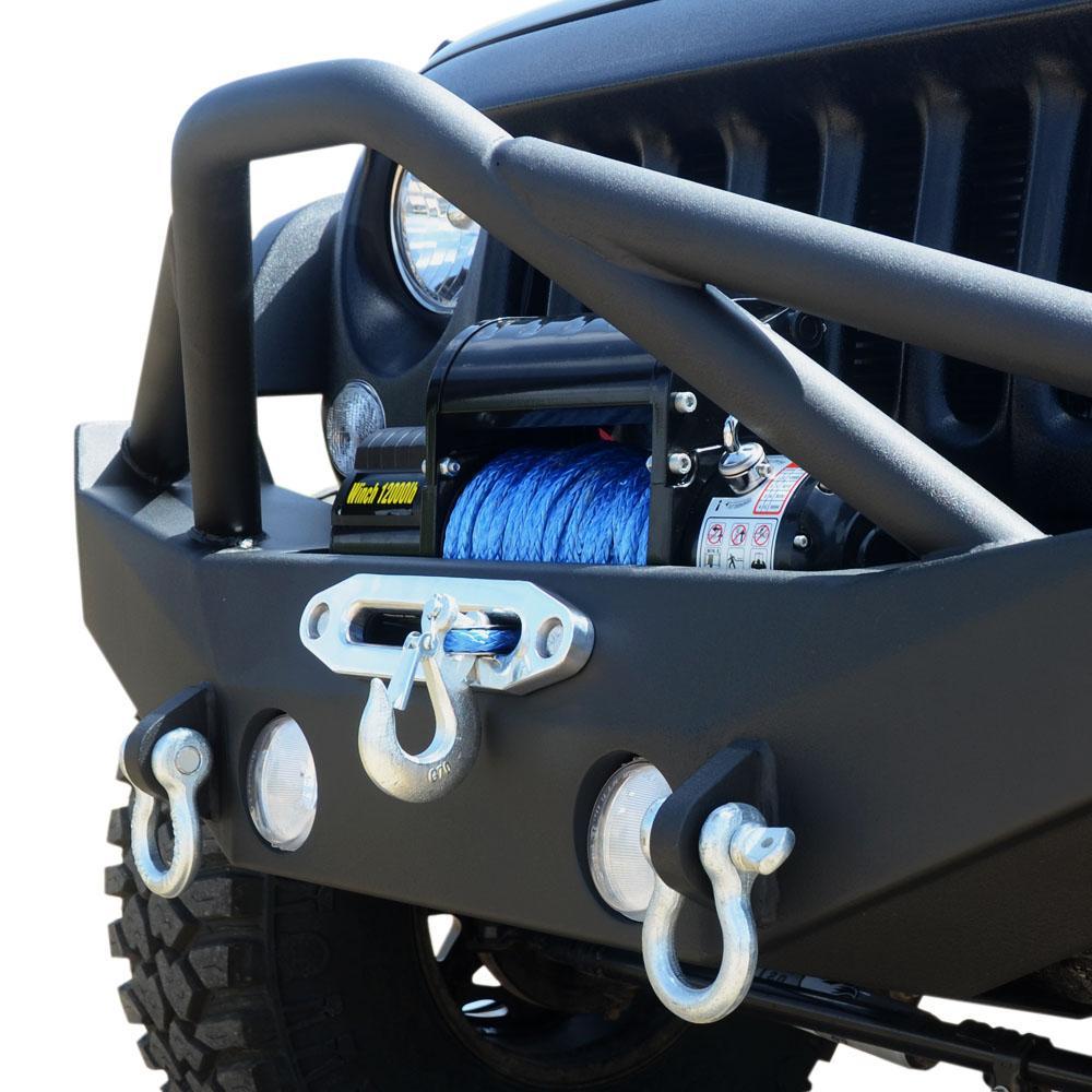 Jeep JK Front Bumper w/Fog Light Holes 07-18 Wrangler JK Steel Mid Length DV8 Offroad