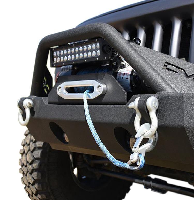 Jeep JK/JL Front Bumper w/Fog Light Holes FS-15 07-18 Wrangler JK/JL Steel Stubby DV8 Offroad