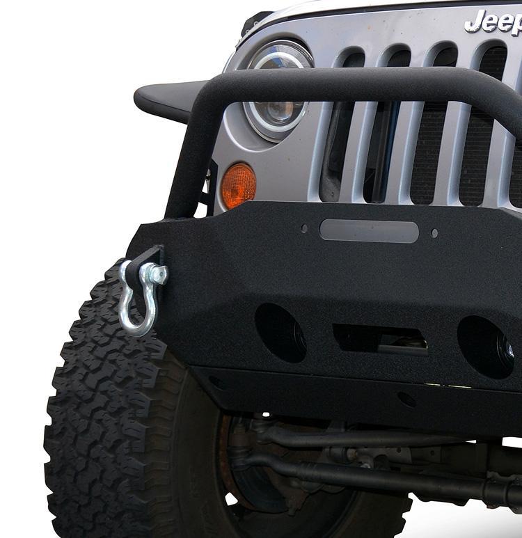 Jeep JK Front Bumper w/Fog Light Holes FS-16 07-18 Wrangler JK Steel Stubby DV8 Offroad