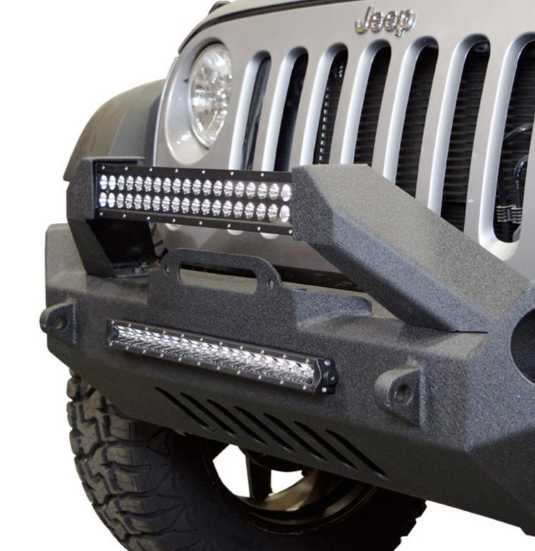 Jeep JK Front Bumper w/Fog Light Holes FS-17 07-18 Wrangler JK Steel Mid Length DV8 Offroad