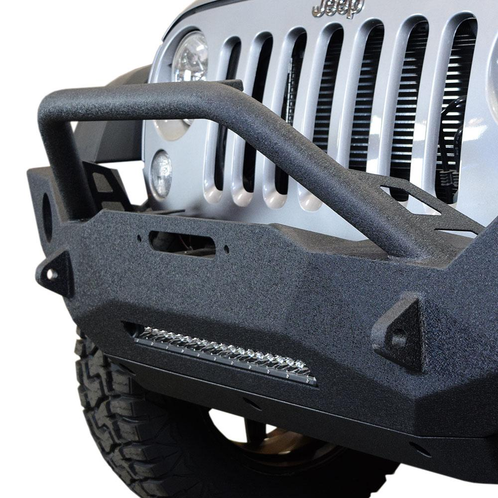 Jeep JK Front Bumper w/Fog Light Holes FS-18 07-18 Wrangler JK Steel Mid Length DV8 Offroad