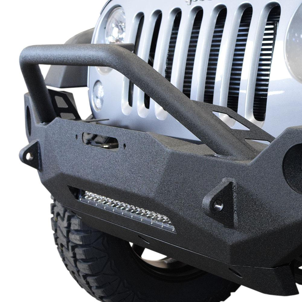Jeep JK Front Bumper w/Fog Light Holes FS-19 07-18 Wrangler JK Steel Mid Length DV8 Offroad
