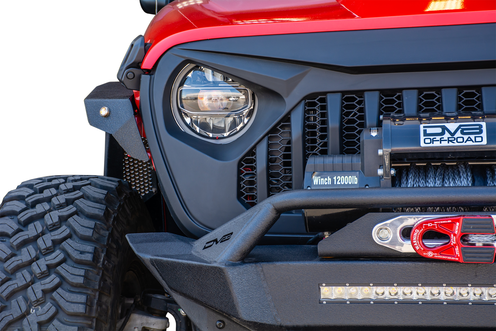 DV8 Offroad Jeep JL Replacement Grill Black DV8 Offroad
