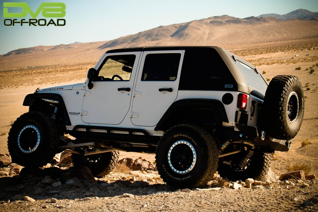 Jeep JK Hard Top Fast Back 07-18 Wrangler JK 4 Door Raw W/Wiper 2 Piece DV8 Offroad