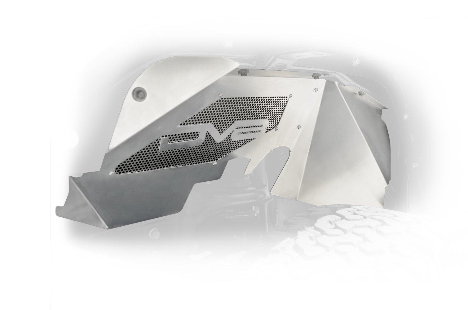 Jeep JK Inner Fender Front Raw 07-18 Wrangler JK Aluminum DV8 Offroad