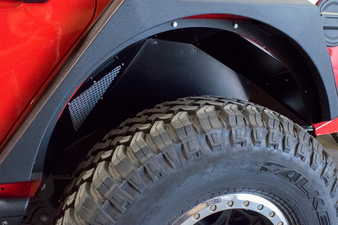 Jeep JL Inner Fenders (Rear Black) 18-Present Wrangler JL DV8 Offroad