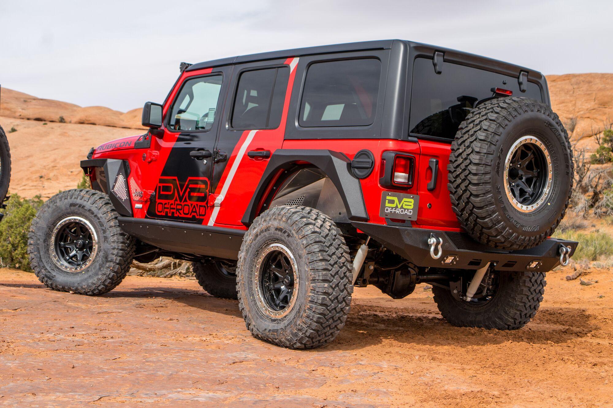 Jeep JL Inner Fenders (Rear Raw) 18-Present Wrangler JL DV8 Offroad