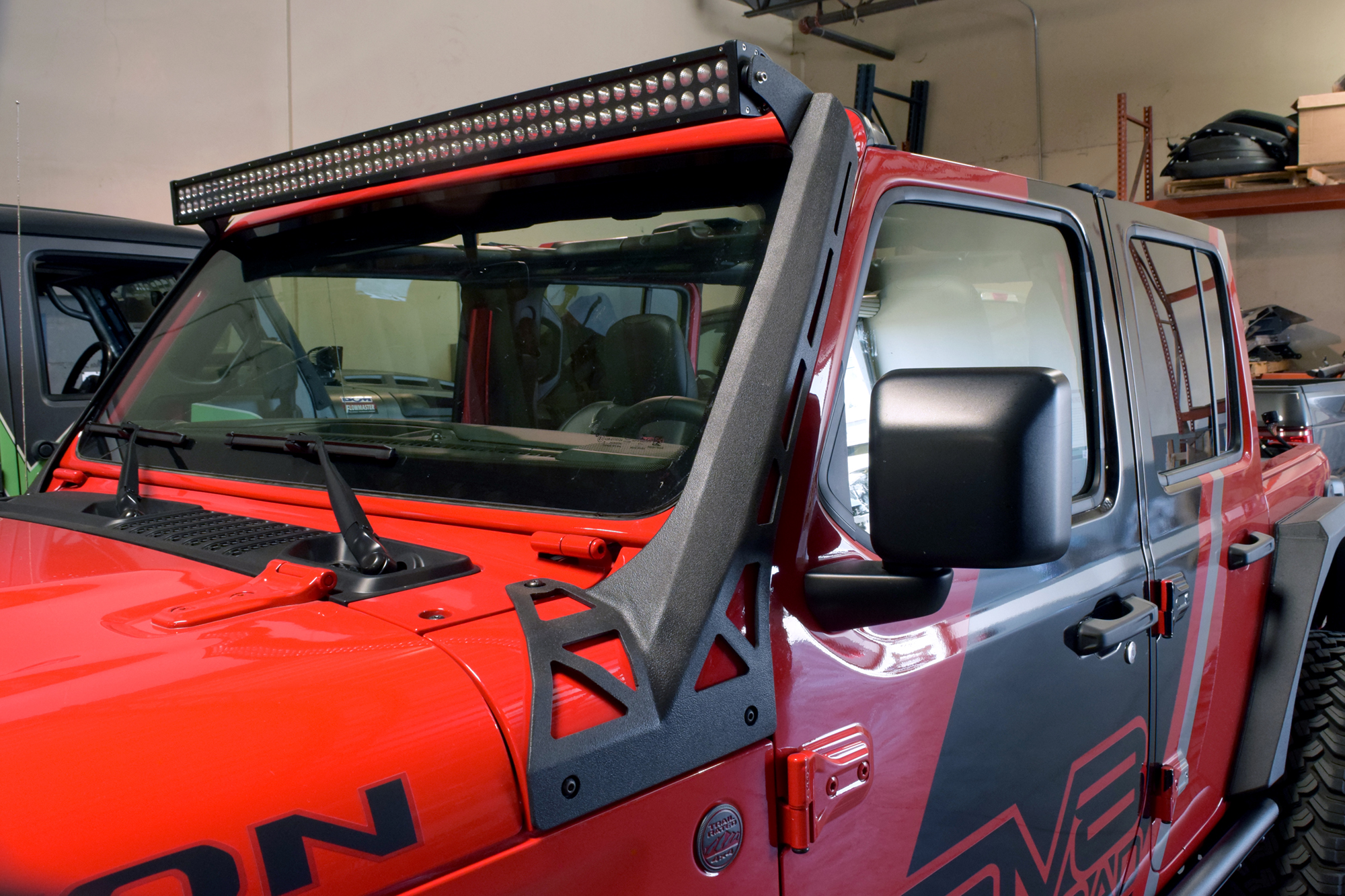 Jeep JL Over Windshield Light Bar Bracket 18-Present Wrangler JL DV8 Offroad
