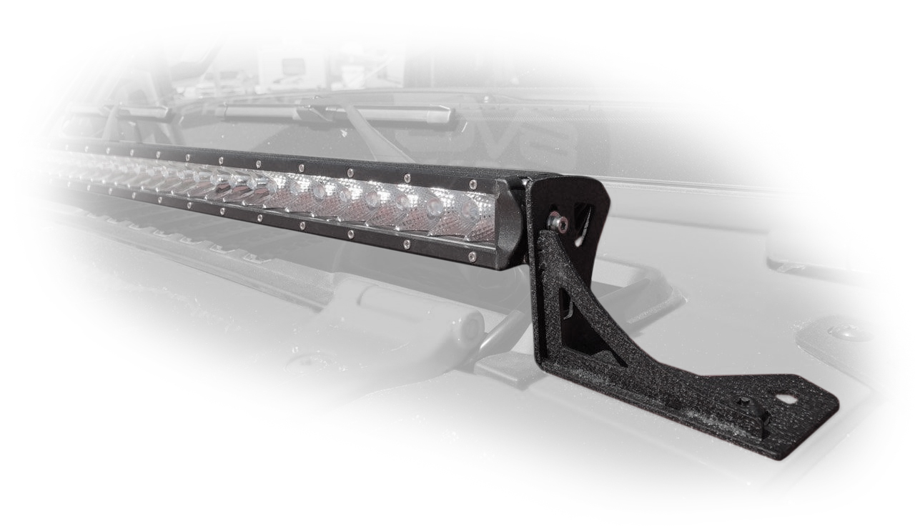 Jeep JL 40 Inch Led Light Bar Mount Over Hood 18-Present Wrangler JL 2/4 Door DV8 Offroad