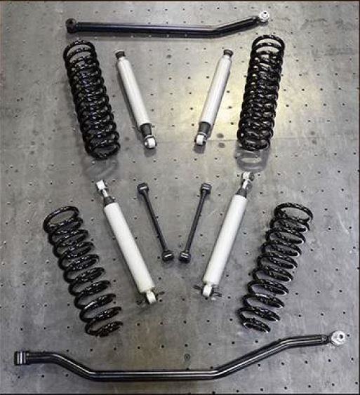Jeep JK Lift Kit 3.5 Inch Rock Runner Base 07-18 Wrangler JK Shocks Springs 2 Track Bars DV8 Offroad