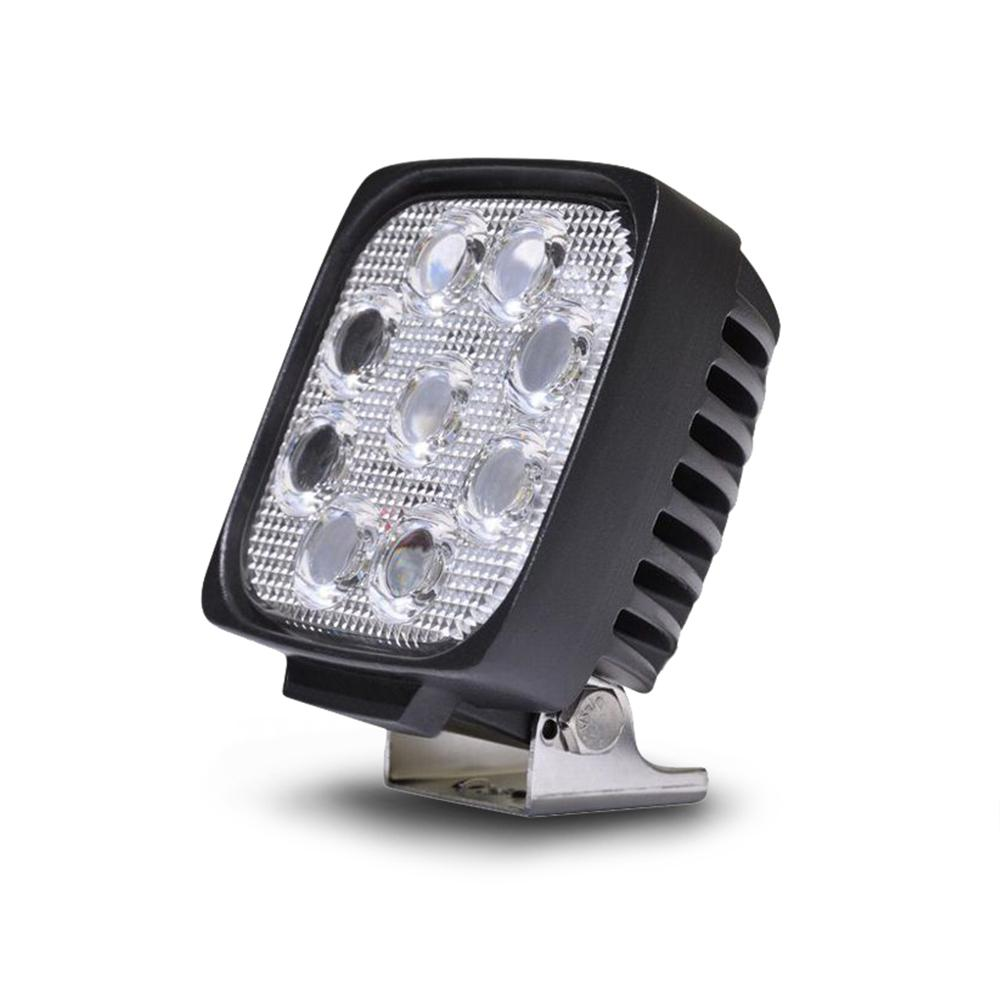5 Inch Square Off road Light 27W Spot 3W LED Black DV8 Offroad